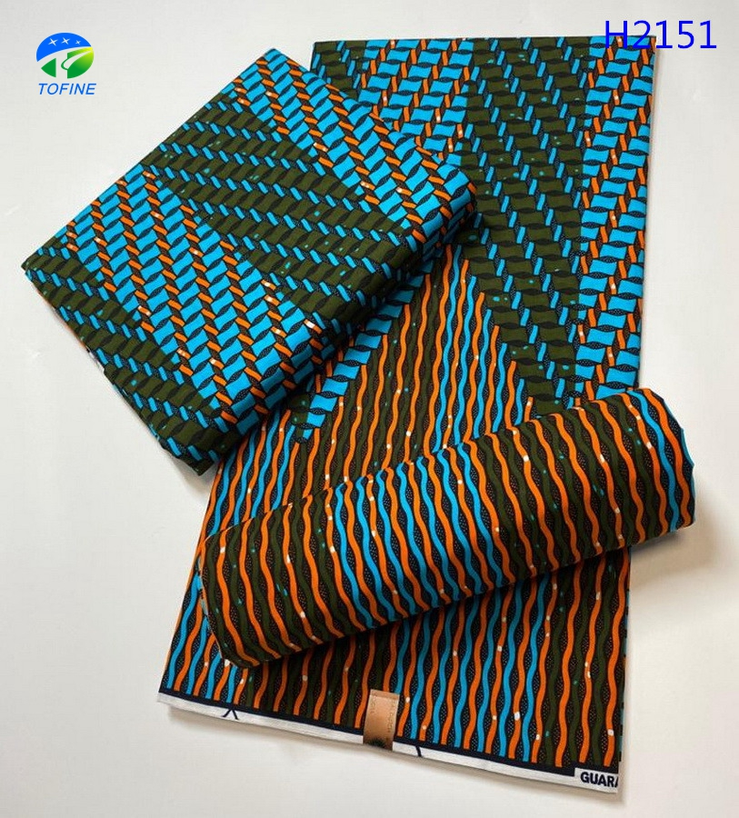 Hot sale price fashion design holland ankara wax 100% cotton african wax print fabric 6 yards