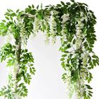 Decoration DIY Wedding Birthday Party Decoration Wall Backdrop Flowers 110cm Long Artificial Wisteria Flower Vine Silk Flower String
