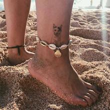 Модные браслеты для женщин, индивидуальный преувеличенный богемский пляжный браслет на щиколотке с металлическими звездочками, подарок дл...(Китай)