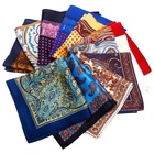 China Printing Silk Scarf Factory Wholesale High Quality Pocket Scarf Men
