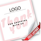 Sticker Wholesale Pink Thank You Sticker For Mother's Day And Thank You For Purchase