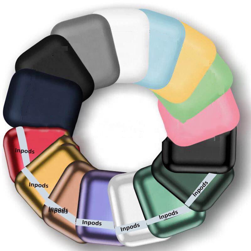 2021 Wireless V5.0 Macaron Inpods 12 Earphones TWS I12 Auriculares Audifono Headphone Matte Black Earbuds - idealBuds Earphone | idealBuds.net