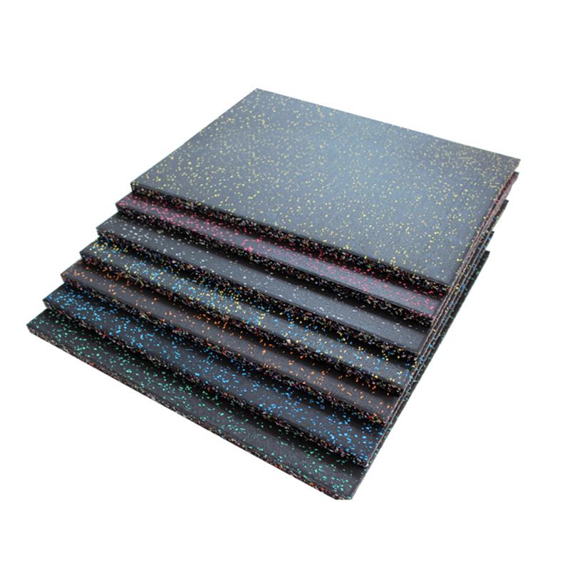 Rubber floor gym mat non-slip durable rubber tiles manufacturer