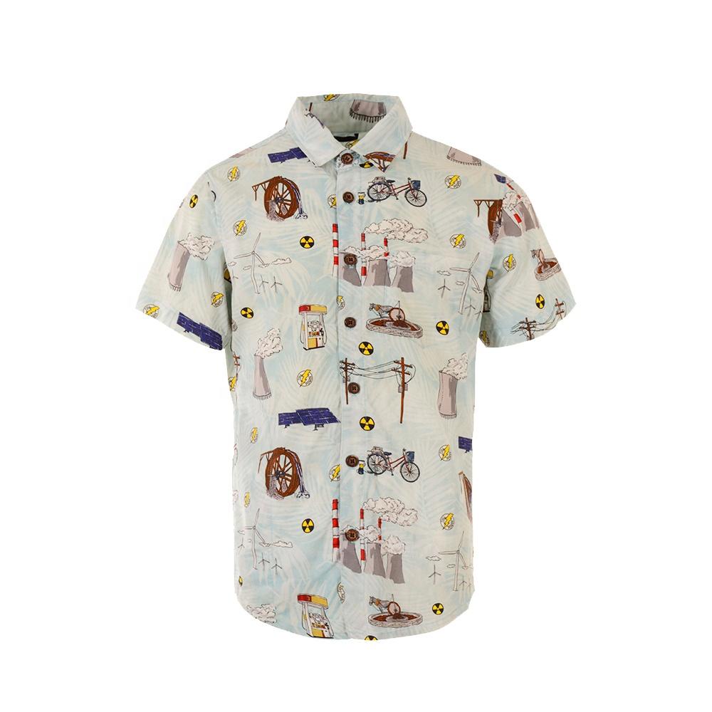 OEM Free label custom men shirts Plus Size vintage summer casual polo shirts for men printed short sleeve shirts hawaiian