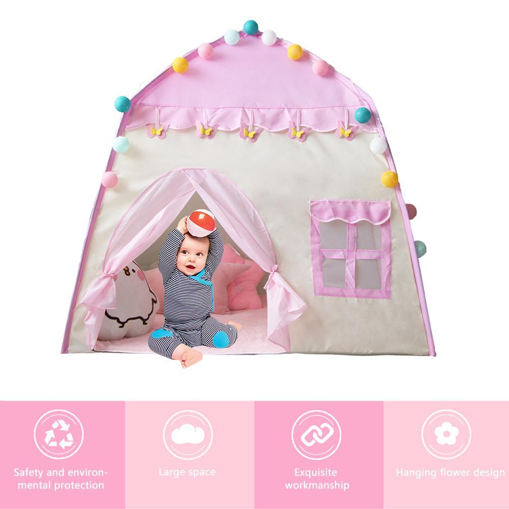 Детский Оксфордский шатер, игровой домик для детей 3-4 лет, детская игрушка для дома, подарок на день рождения для девочек, розовый детский те...(Китай)