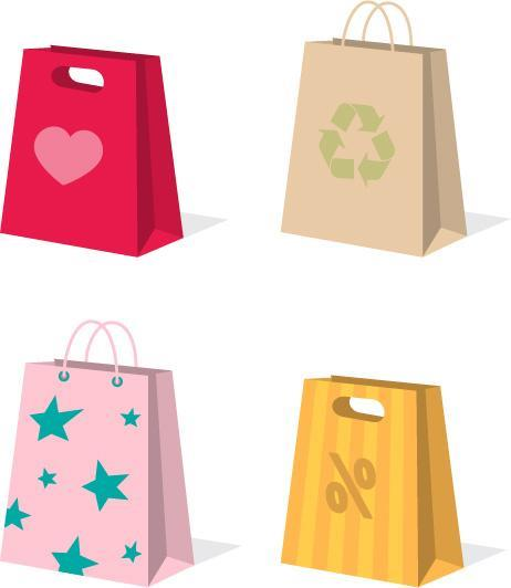 custom kraft shopping paper bag garment bag