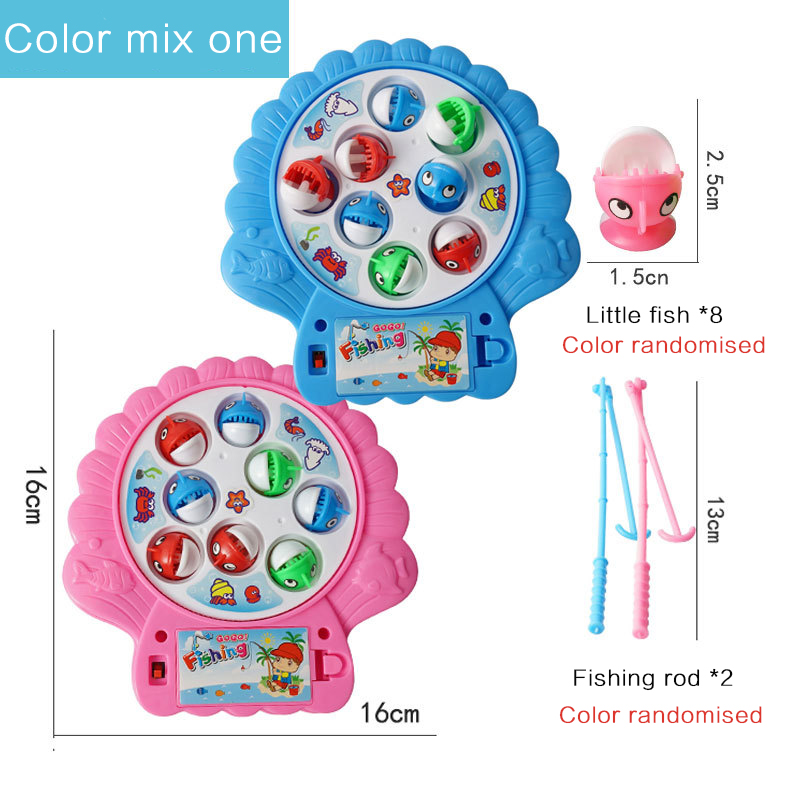 Customizable Children's simulation fishing toy baby early education electric rotating kitten fishing
