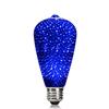 3D fuegos artificiales Led filamento de la bombilla ST64 luz azul