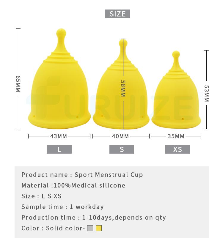 Furuize Copa менструальная чаша Женская гигиена силиконовая чаша для периода 100% медицинская силиконовая менструальная чаша