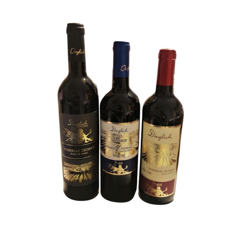 Горячая Распродажа, оптовая продажа, сухое красное вино в Испании с евровилкой 0,88/бутылка Exwork