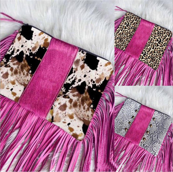 Purses Snakeskin Leopard Print Women Ladies Purse Custom Bag Hand Lady Frames Chinese Cow Bags with Tassel Clutch