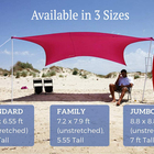 Family Portable Sun Shade Family Beach Tent Shelters Sun Camping Hexagonal Uv Protection Sunshade Beach Tent