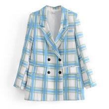 [DEAT] женский двубортный блейзер в клетку, новая свободная куртка с длинными рукавами и отворотом, модная демисезонная куртка 2020 13T862(Китай)