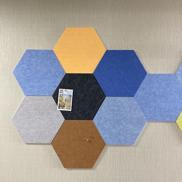 Wholesale eco friendly hexagon felt pin board for home school office - Yola WhiteBoard   szyola.net