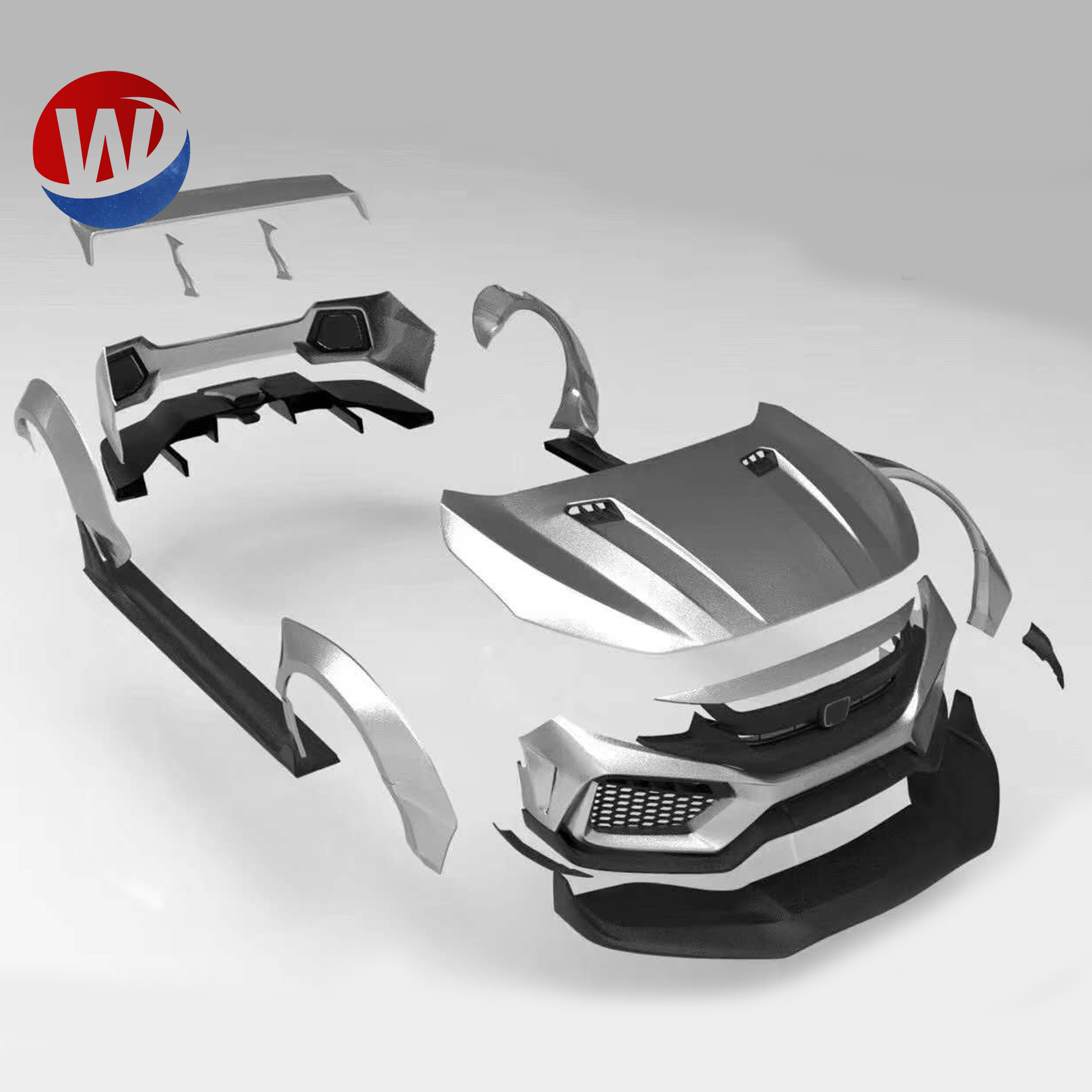 Frp Body Kits For Honda Civic 2016 2019 Upgrade To Robot Craftsman Style Front Bumper Side Skirt Rear Bumper Hood Wheel Flare Buy Body Kit For Honda Jazz Product On Alibaba Com