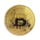 Limited Edition Original Bitcoin Commemorative Collectors BTC Coin Metal Gold Plated Bit Coin