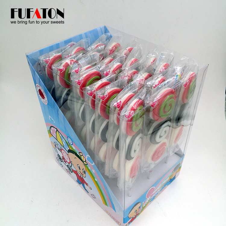 Delicious hand decorated chocolate lollipop candy
