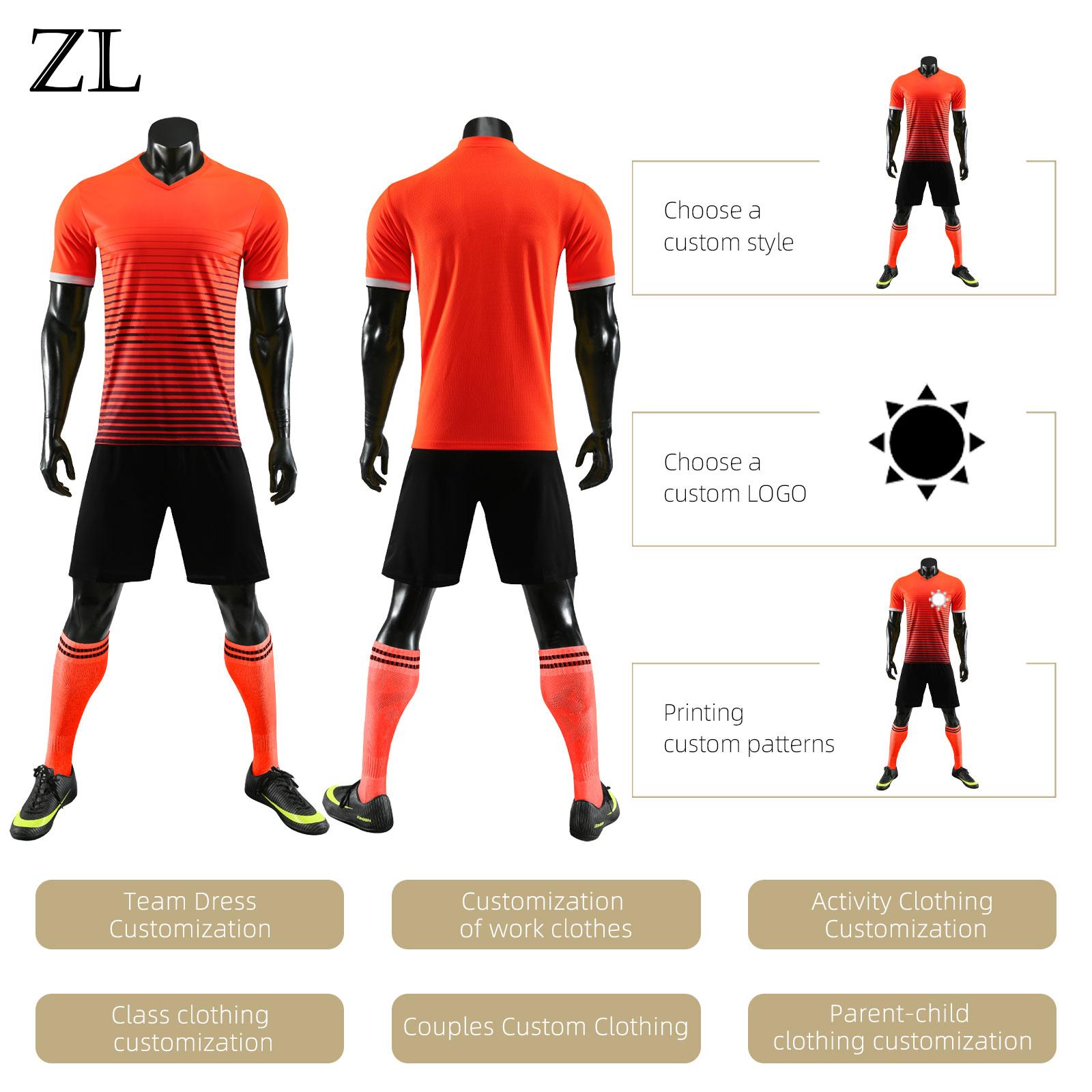 Новая футболка, футбольный костюм, индивидуальный детский спортивный костюм для матча, Молодежный Школьный футбольный костюм