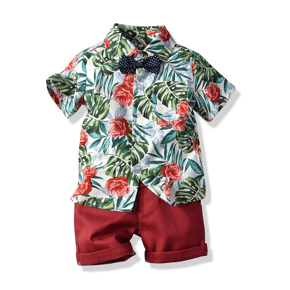 Ninos De Verano Caballero Vestido De Flores Camisas Pantalones Cortos Conjunto Hawaiana En La Playa Trajes De Navidad Ninos Buy Los Ninos De Verano Trajes Casuales Hawaiana Camisas Ninos Deja Camisas