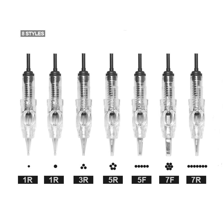 PMU Tattoo Cartridge Needles Wholesale 1RL/1P Tattoo Machine Tattoo Cartridge Needles