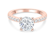 19;Rose Gold;Round Diamond Ring