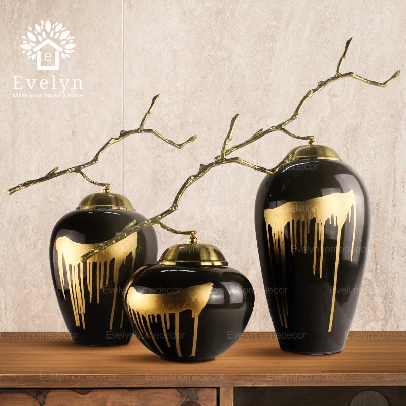Винтажная настольная керамическая ваза с изображением цветов для украшения дома
