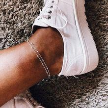 17 км богемные Золотые бусы ножной браслет для женщин простой серебристый цвет ножные браслеты винтажные регулируемые ножные браслеты пляж...(Китай)