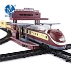 Bemay Toy 2019 New Train Toy Kids Classical Electronic Train Toys With Steam Smoking Music And Light