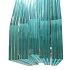 6-100mm Architectural Laminated Glass with PVB SGP film custom size with tempered glass from China