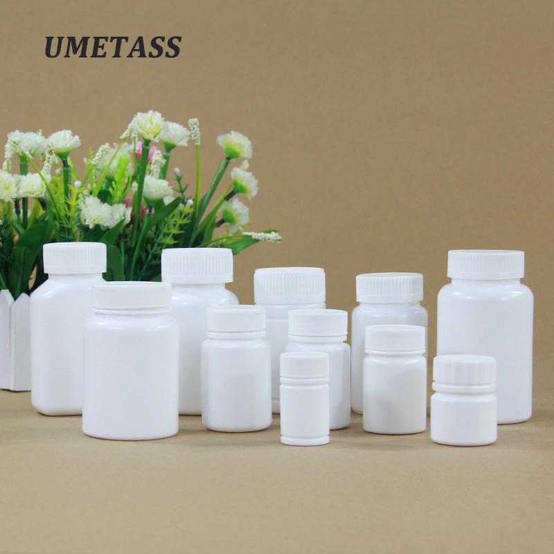 Пустые контейнеры для защиты от детей, медицинские препараты, фармацевтические белые круглые бутылки, пластиковые капсулы для таблеток, для продажи