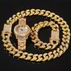 Gold (8inch bracelet + 18inch necklace + watch)