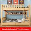 Bunk Bed+Bookshelf+Drawer