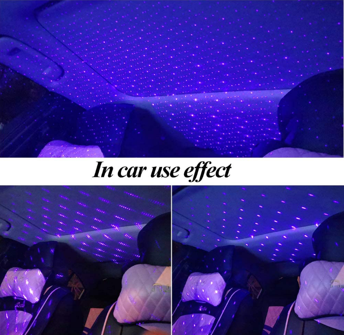 Star Night Light Projector, USB Adjustable Romantic Projector Night Light Auto Roof Ceiling Light, Portable Atmosphere