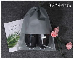 Рекламный пылезащитный Прозрачный окно без рисунка нетканый Шнурок Пакет карманные тапочки сандалии обувь для бега сумка для обуви