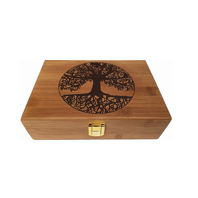 Ручная работа натуральная винтажная деревянная бамбуковая коробка с замком