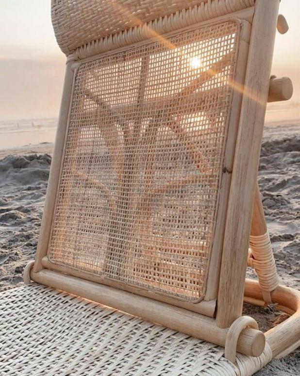 Уличное легкое складное кресло с Бали, плетеная спинка из натурального ротанга ручной работы, кресло-шезлонг для бассейна, пляжа
