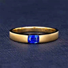 18k gold 0.4ct natural sapphire ring
