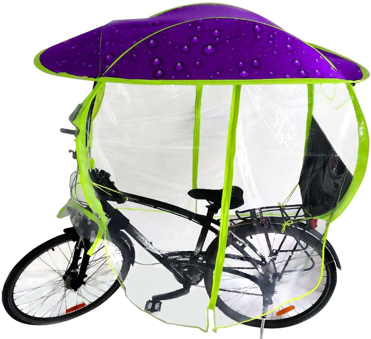 New Style Full Covered Bike Umbrella Outdoor Windproof Sunshade Cover  Bicycle Umbrella Rainproof For Outside Sun And Rainny Day - Buy New Style  Full Covered Bike Umbrella,Outdoor Windproof Sunshade Cover Bicycle Umbrella ,Rainproof
