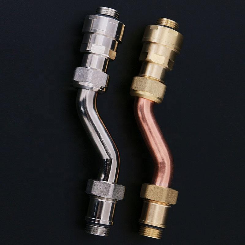 Оптовая продажа, клапаны торцевого блока из латуни для систем теплого пола