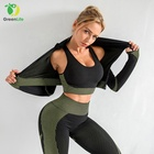 Sport Wear 2021 Custom Logo Women Plus Size 2XL Activewear Gym Suit Sport Fitness Set Seamless 3 Piece Yoga Wear