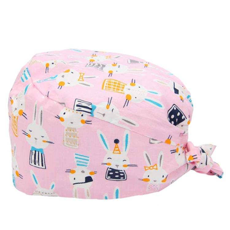 AAA651 Custom Logo Gourd Shape Working Cap Cotton Breathable Sweatband Unisex Hats Dustproof Bouffant Botton Hat With Fastener