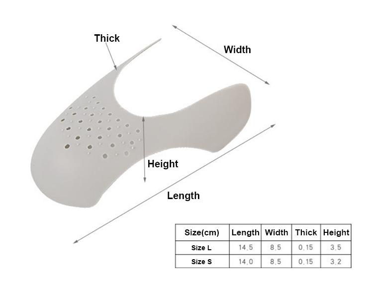 Горячая Распродажа, защитные крышки для кроссовок, защита от складок, складывающаяся подставка для обуви, закрывающая носок, Спортивная шаровая Головка для обуви