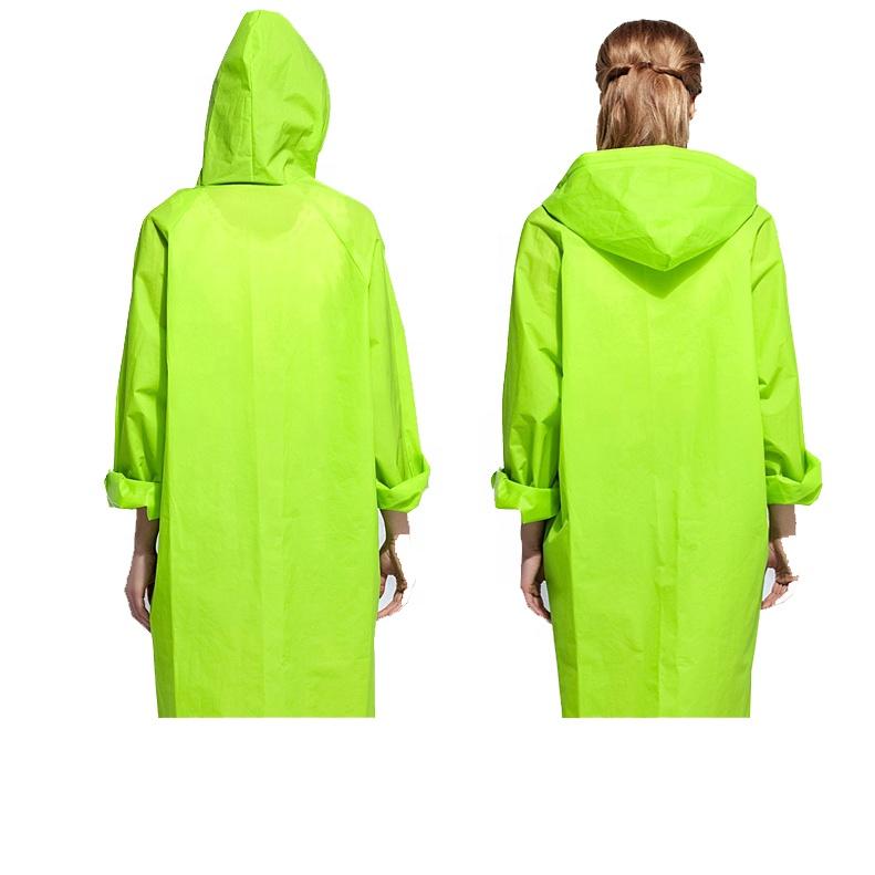 Men Women Raincoat Rain Coat Hooded Waterproof Jacket Poncho Rainwear Solid