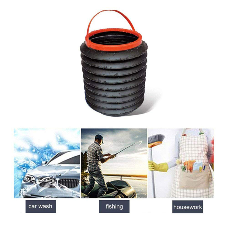 4L Portable Car Storage Box Waterproof folding collapsible bucket fishing bucket