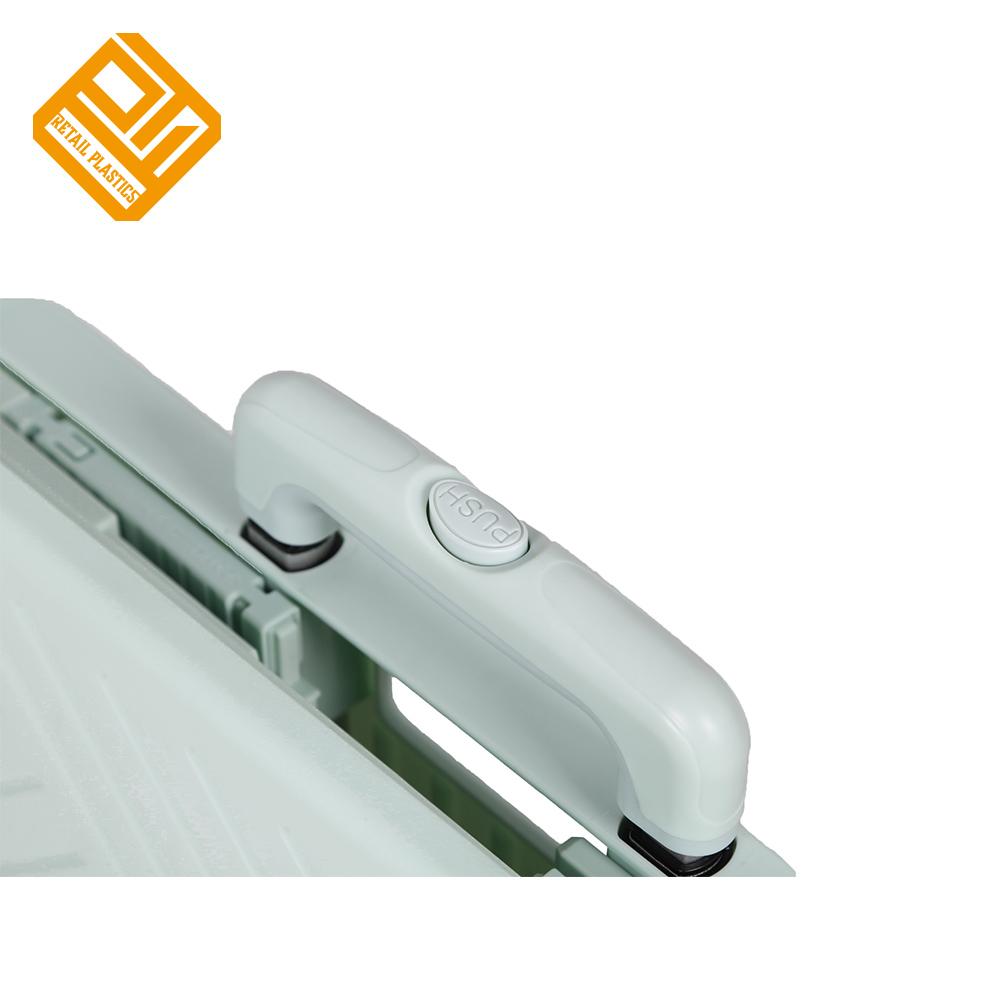 Пластиковая Складная тележка для багажа с телескопической ручкой