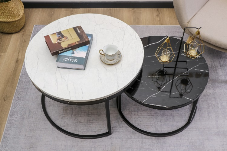 Glass Hot Sell Wooden Unique Modern Design Luxury Black Marble Round Top Gold Frame End Coffee Table Set Living Room Furniture Buy Luxury Living Room Coffee Table Luxury Coffee Table Set Marble Coffee