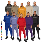 Good quality sweat shirt hoodie with jogger pants set unisex pullover oversized long men