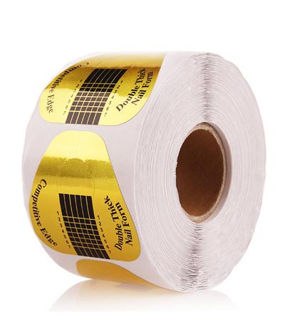 Oem бумажный лоток, алюминиевая фольга, 500 шт., печать логотипа, Бесплатная Фирменная Форма для ногтей