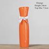 Orange-Cheongsam ceramic vase