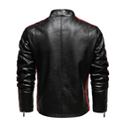 Leather Jacket 2021 Men's Motor Biker Faux Leather Coat Vintage Spring Autumn PU Leather Fleece Lined Coat Jacket